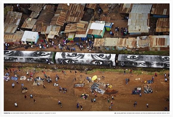 Action in Kibera slum, Nairobi, Kenya