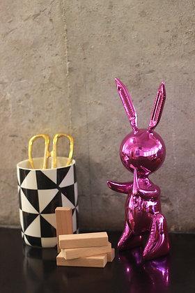 Jeff Koons (d'après) - Balloon Rabbit Pink