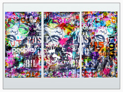 LOVE PEOPLE TRIPTYQUE 3 X 110X60CM