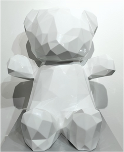 TEDDY BLANC 65x60x45cm