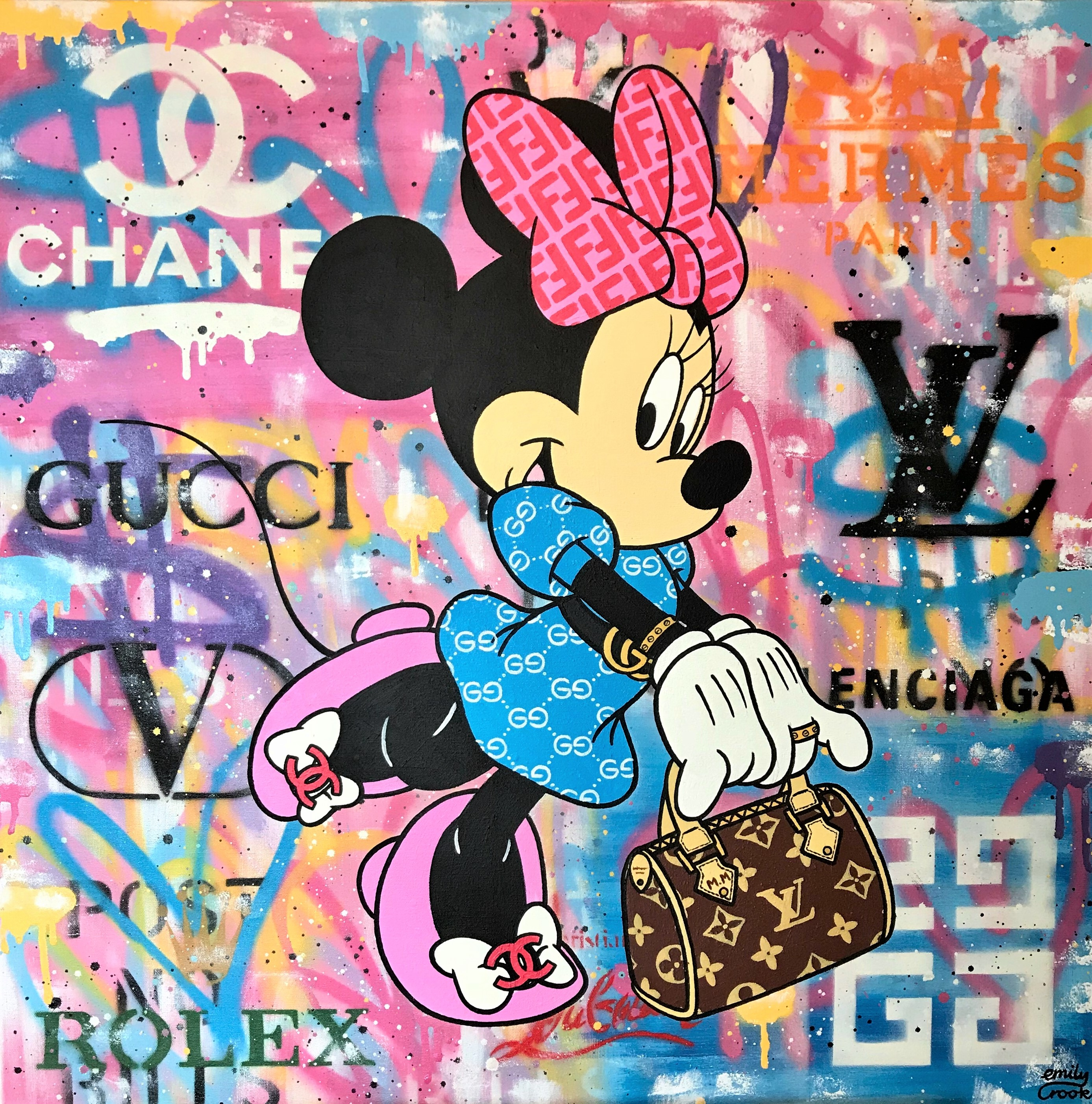 MINNIE LOVES LUXURY 80X80CM
