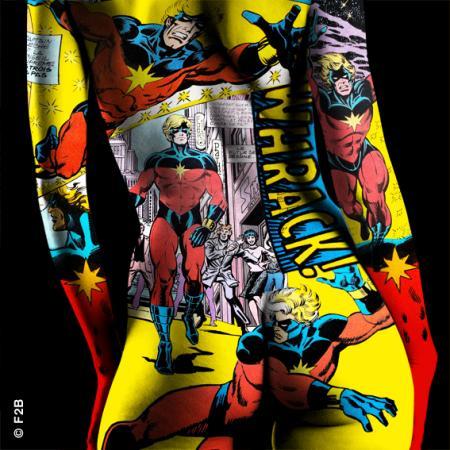 Comixs Captain Marvel 60X60CM