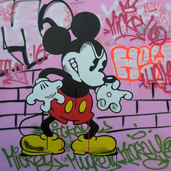 MICKEY MOUSE COLÈRE 120X120CM