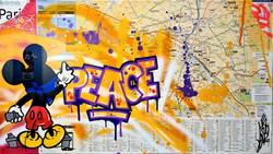 MICKEY PEACE 52X82CM