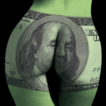 Buttocks Dollar 60X60CM