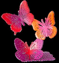 Trio de papillons colorés PM 75cm