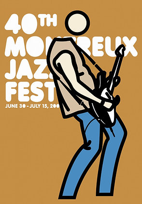 Julian Opie - Montreux Jazz 2006 (Mustard)