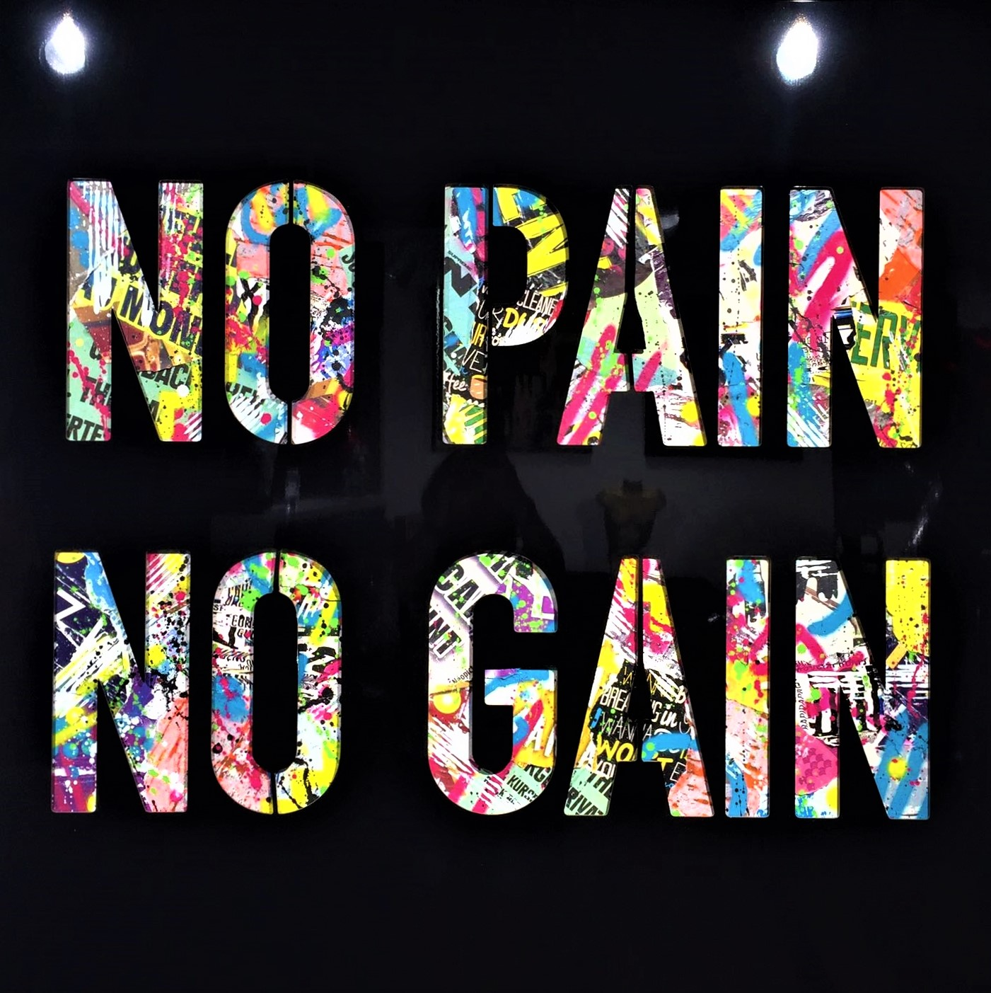 NO PAIN NO GAIN 105X105CM