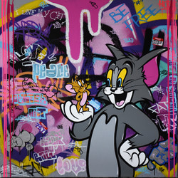 TOM & JERRY 100X100CM