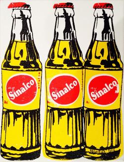 3 bouteilles de Sinalco 24X18CM