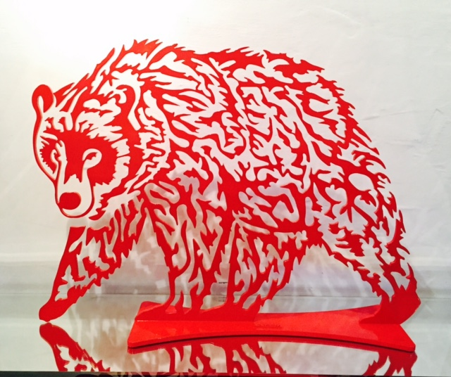 Ours 50cm rouge