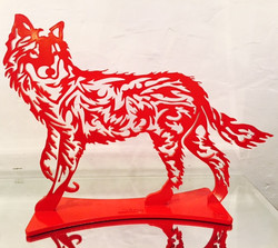 Loup PM rouge