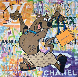 SCOOBY SHOPPING 100X100CM