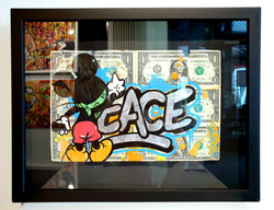 DOLLARS MICKEY PEACE 33X43CM