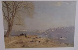Le Grand-Lac vu du quai d'Ouchy