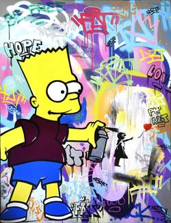 Bart Simpson 116x89cm