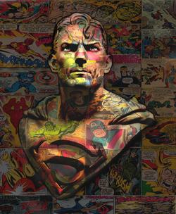 SUPERMAN 77X64CM
