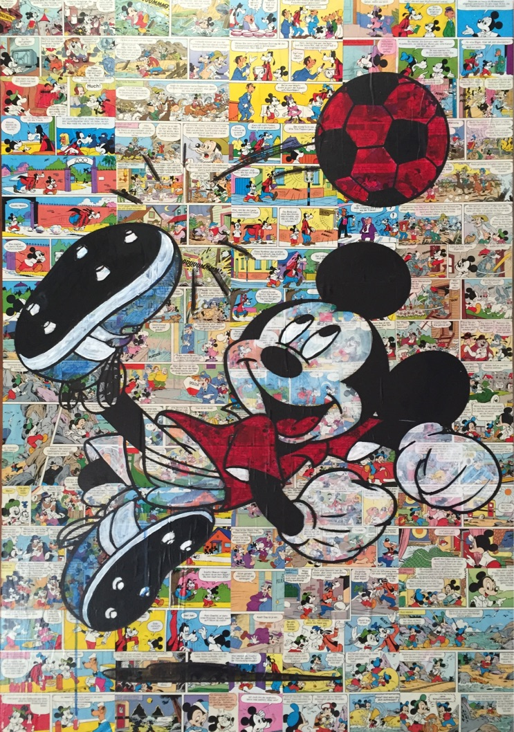 WORLDCUP MICKEY 100X70CM