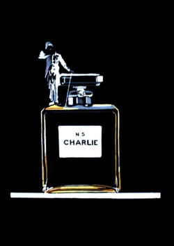 CHARLY BLACK AND GOLD 46,5X37,5CM