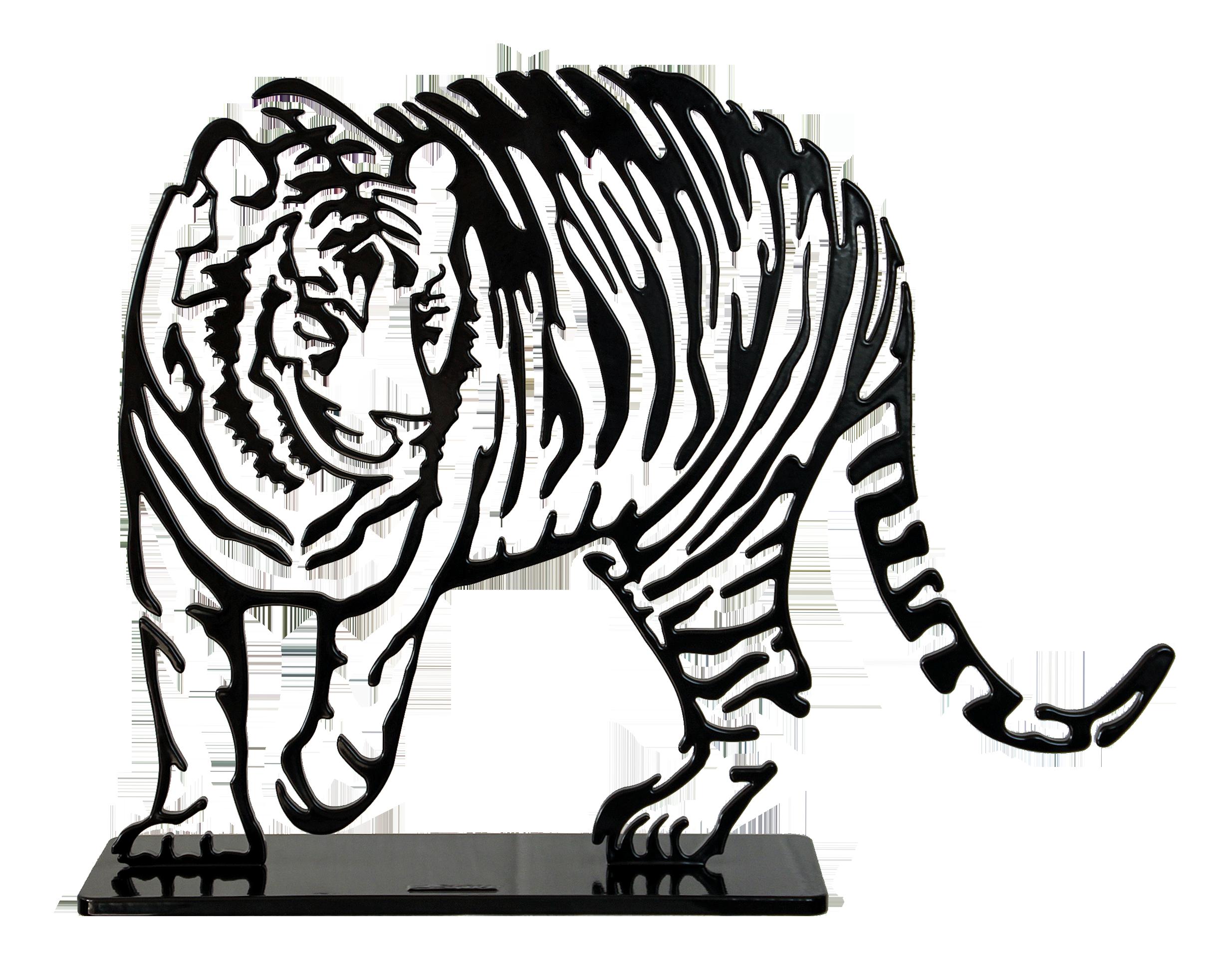 Tigre noir PM 38cm