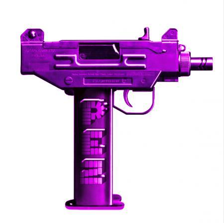 Purple PEZ 60X60CM
