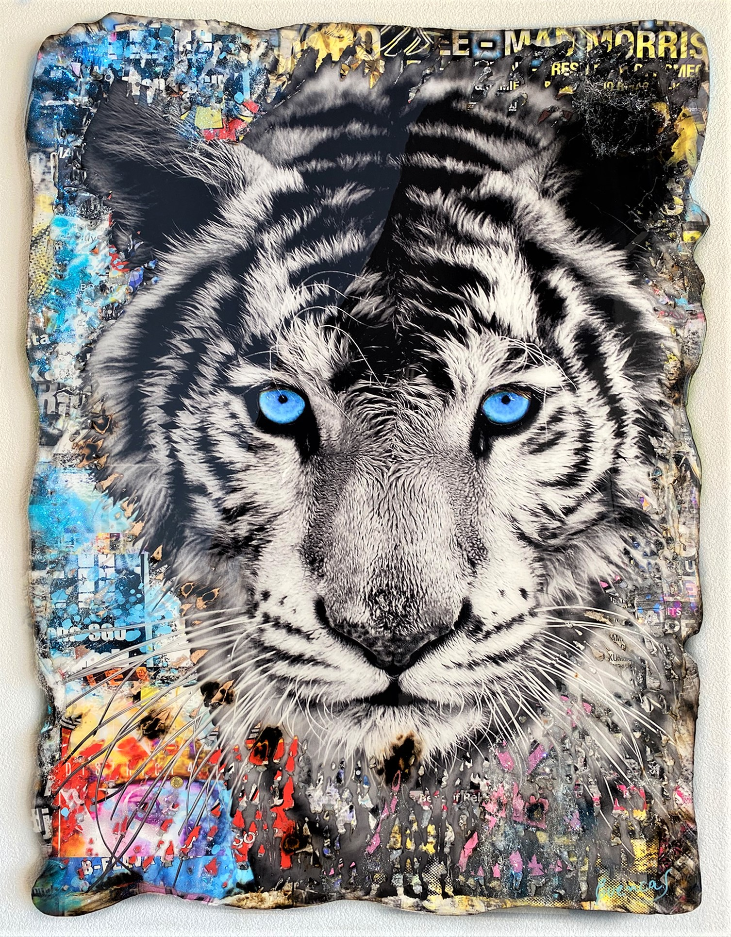 BLUE EYES TIGER 130X90CM