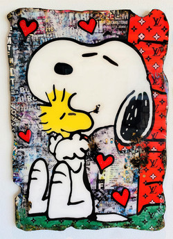 SNOOPY LOVE FOREVER 130X90CM