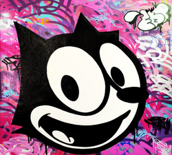 FELIX THE CAT 90X90CM