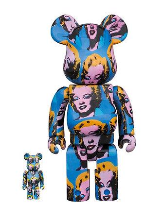 Bearbrick Andy Warhol's Marilyn Monroe 400% + 100%
