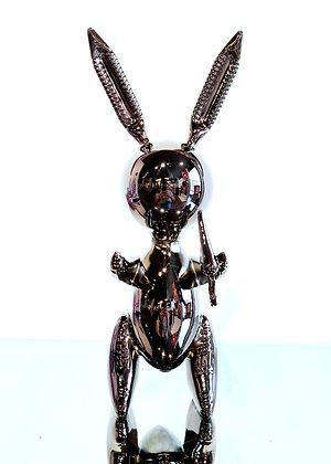 Jeff Koons (d'après) - Balloon Rabbit XL Black