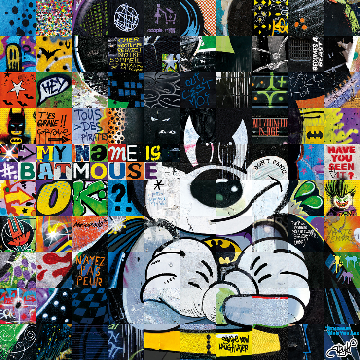 MY NAME IS BATMOUSE 100X100CM