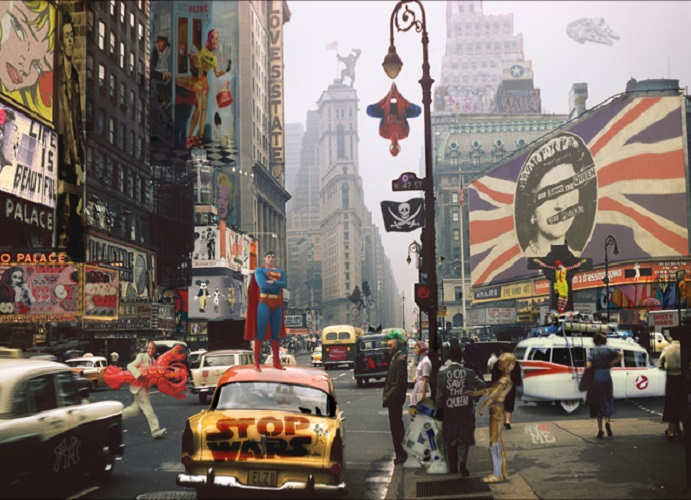 POP GOES NEW YORK I 72X96CM