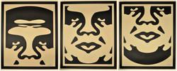 Obey 3 Face (Creme) - triptyque