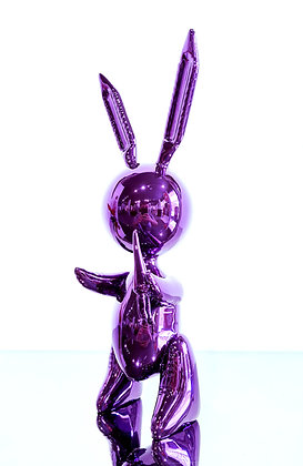 Jeff Koons (d'après) - Balloon Rabbit Purple