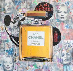 CHANEL PARIS PARFUM MICKEY 101X101CM