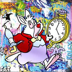 White Rabbit 100x100cm
