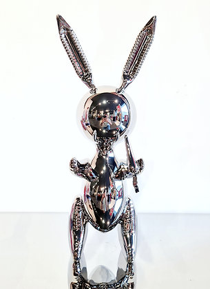 Jeff Koons (d'après) - Balloon Rabbit XL Silver
