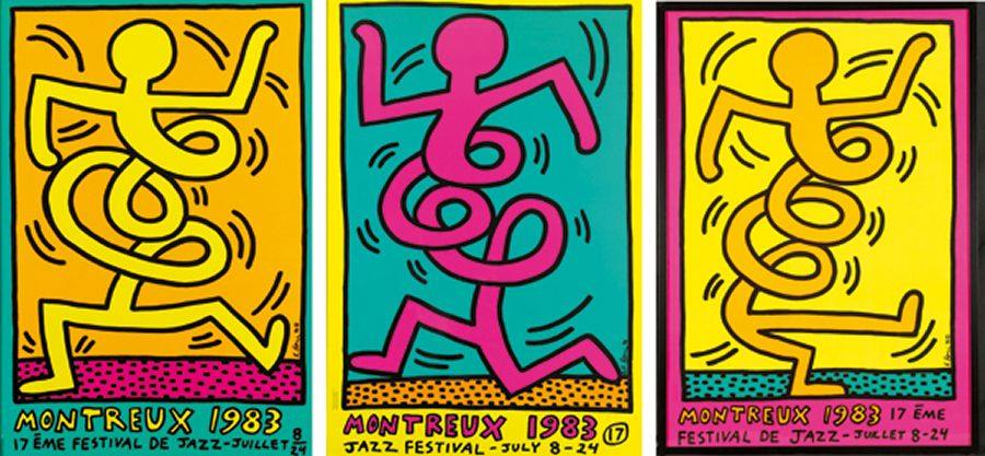 Keith Haring 1983 - 3 versions