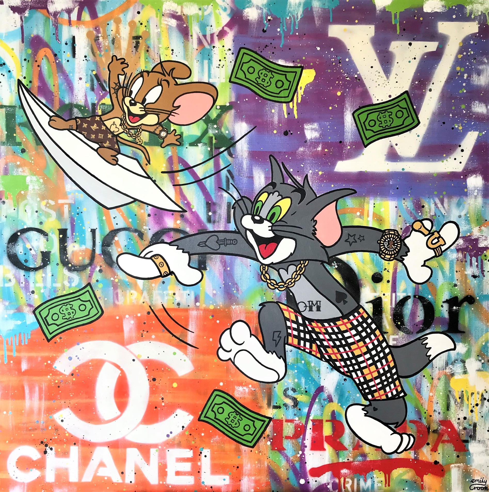 CHASING PAPER 100X100CM