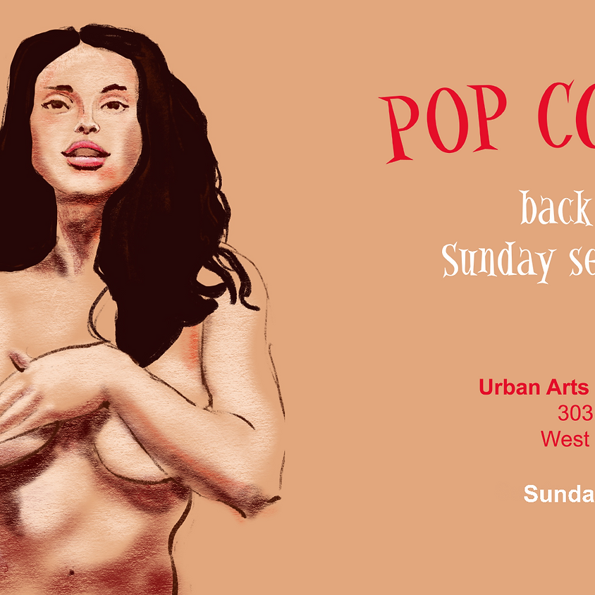 Pop Corn Life Drawing January Sessions with Evana