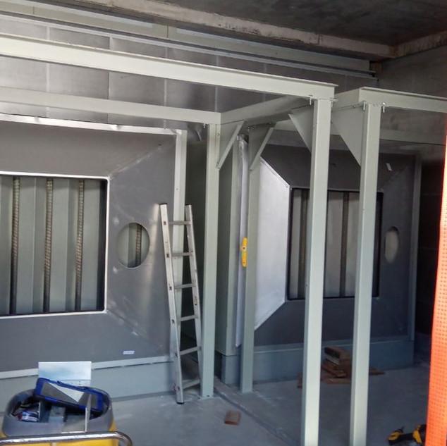 installation of OutletAttenuator & ExhaustBrackets