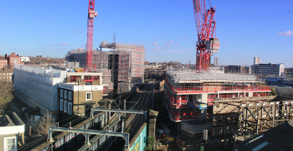 Superstructure nearing completion on 23rd November 2017