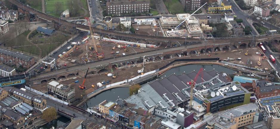 Aerial view of Camden Lock Village - November 2015