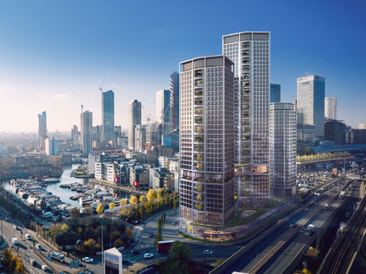 Urbanest Development for 3 Towers at the Gateway to Canary Wharf