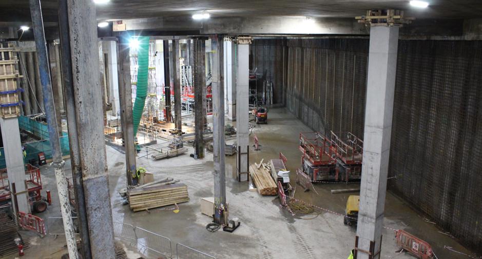 Building C basement progress on 15th February 2017