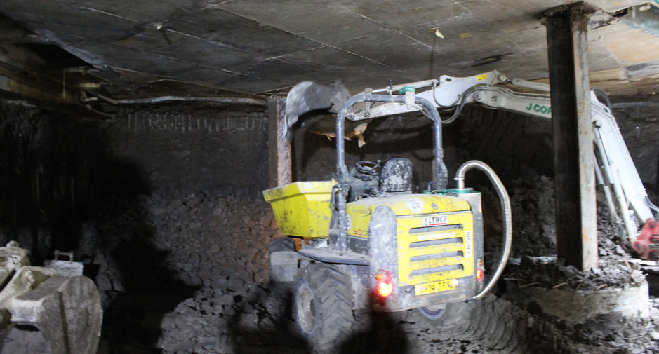 Excavation to basement level 2 on 23rd March 2017