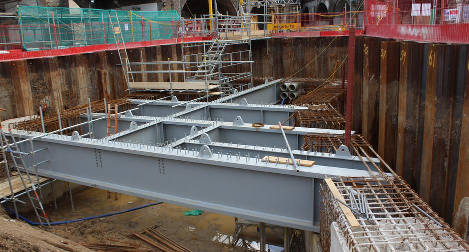 Plate girder installation on 24th June 2016