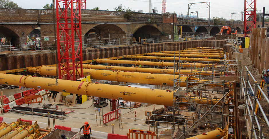 Preparing for the installation of phase 2 propping on 26th October 2016