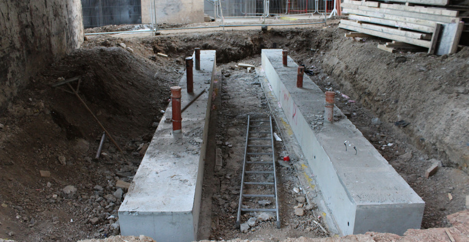 Service crossings ready for excavation on 30th October 2017