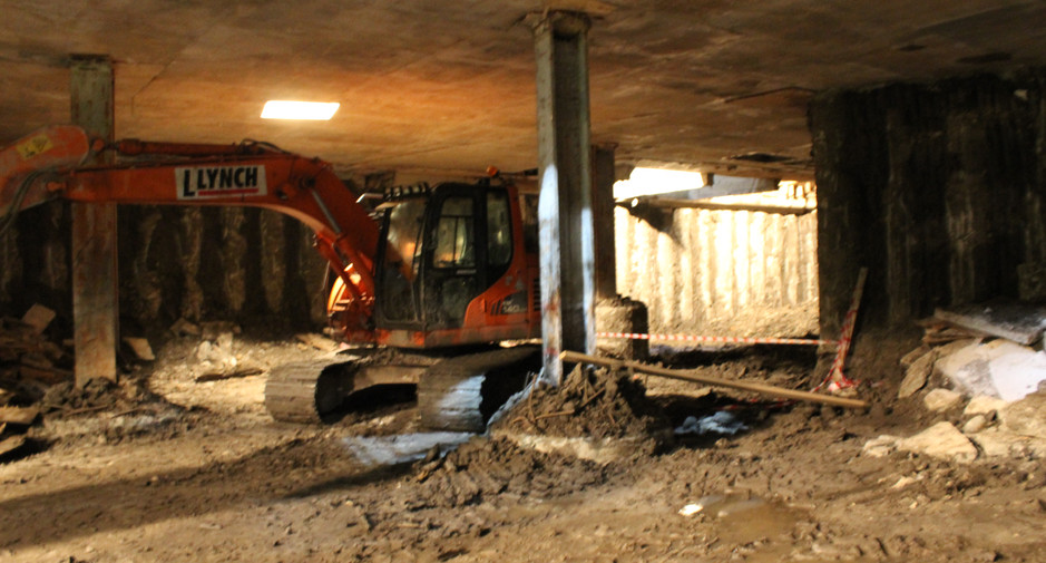 Excavation to basement level 2 on 27th February 2017